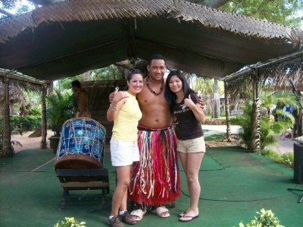 Veronica and I at the Polynesian Culture Center.